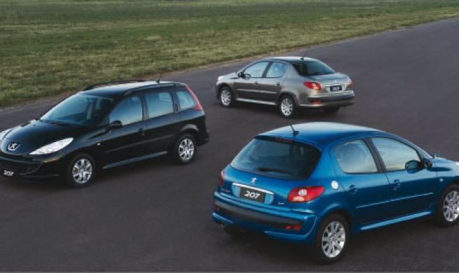 Família Peugeot 207 possui parte mecânica e estrutural semelhante ao antecessor 206