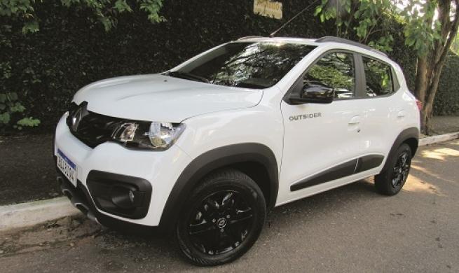 Renault Kwid Outsider traz visual off-road sem  perder base de baixo custo e economia de material