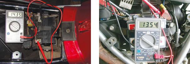 Tensão de carga da bateria com o motor a 5.000 rpm/ Tensão da bateria (padrão Honda) a 20°C 13,0 ~ 15,0V a 5.000 rpm