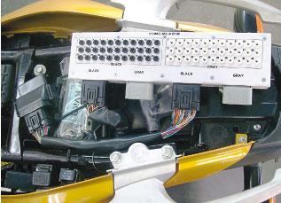 Dispositivo de testes do ECM conhecido como Caixa de pinos