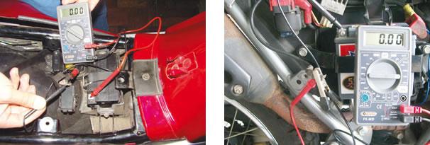 Procedimento Yamaha/ Verificação de fuga de corrente  (padrão Honda)