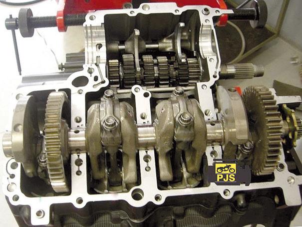 Carcaça inferior do motor e virabrequim - Yamaha YZF R1