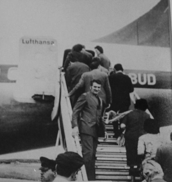A primeira viagem para a Alemanha, em 1971