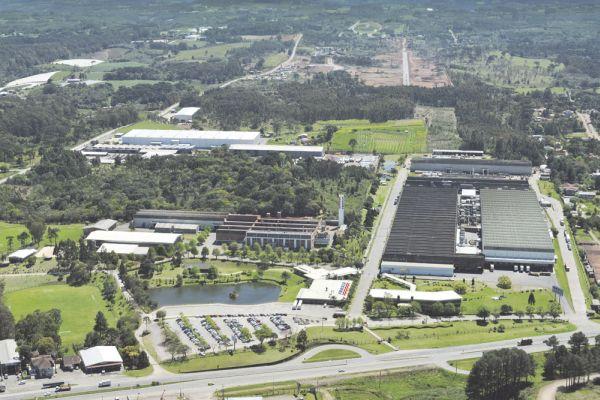 Vista aérea da sede da Fras-le em Caxias do Sul, no estado do Rio Grande do Sul