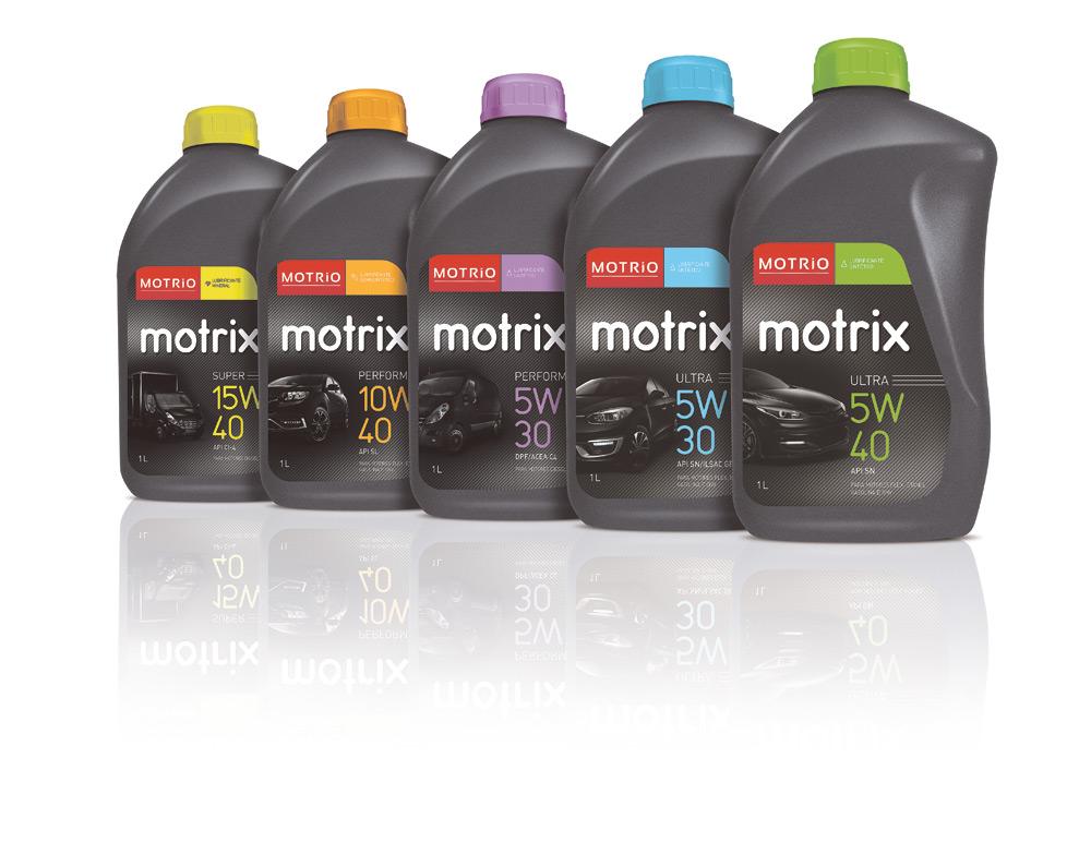 Linha de óleo lubrificante da Motrio