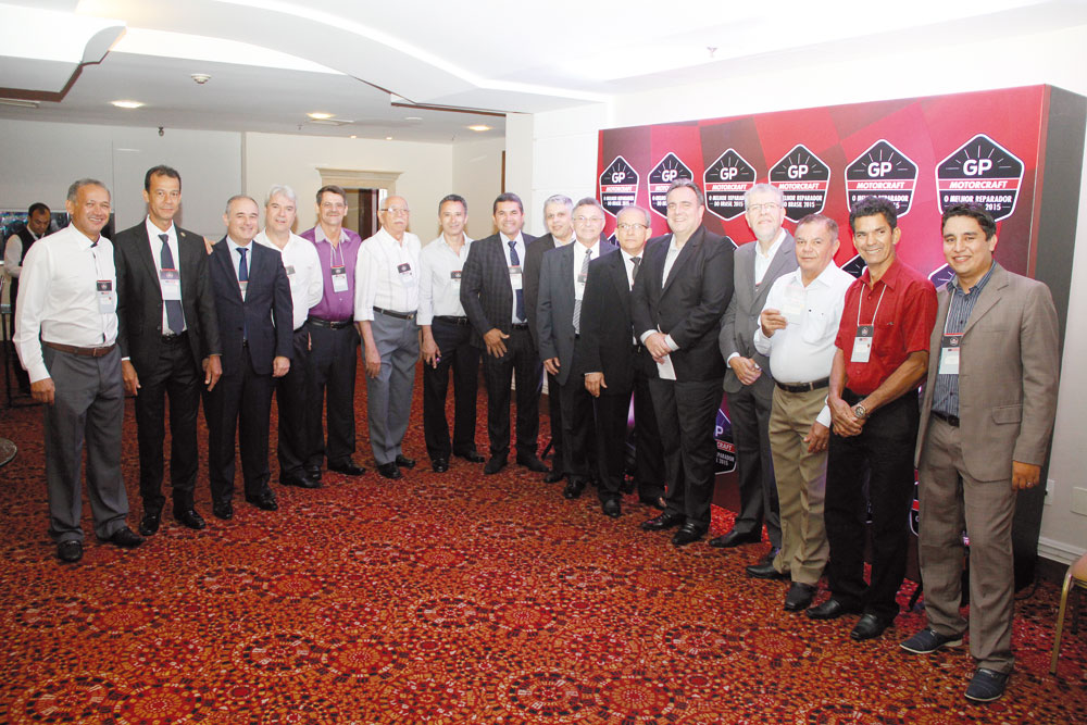 Representantes estaduais dos Sindirepa Nacional, presentes em todas as etapas do GP Motorcraft 2015