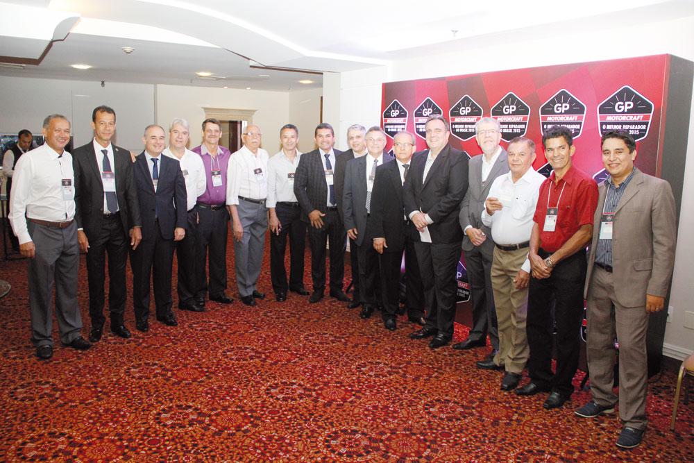 Representantes estaduais dos Sindirepa Nacional, presentes em todas as etapas do GP Motorcraft 2015