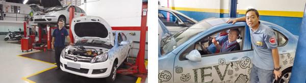 Kléber, da AK Autocenter no bairro do Brooklin, São Paulo, SP / Akira e Jeferson, da Akira Auto Repar em Guarulhos, SP
