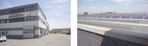 Fachada da oficina / Energia solar