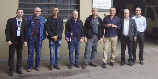 Comitiva com o proprietário Massimiliano e Marco Andreassi da Grupauto Itália/rede Punto Pro