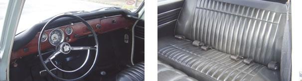 """No interior, destaque para o painel imitando jacarandá e o volante apelidado de """"cálice"""" / O TL oferecia um bom espaço para os passageiros de trás, quando comparado à Variant"""
