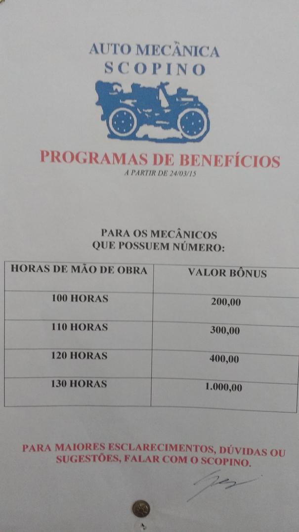 Exemplo de bônus por meta de horas vendidas