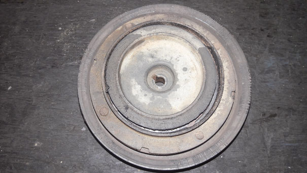 Cubo ou embreagem do compressor derretido