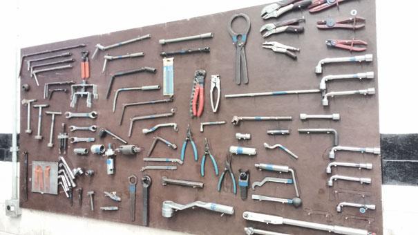 Quadro geral de ferramentas