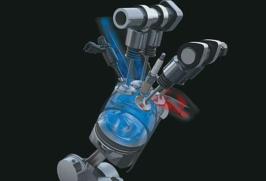 Sistema de Injeção Direta com injetor posicionado na lateral da câmara