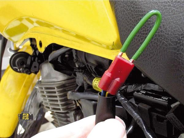 Curto circuito no DLC (jamper) fios: Azul-Verde/Preto