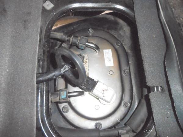 Assoalho sem a tampa: Vista do conjunto da bomba