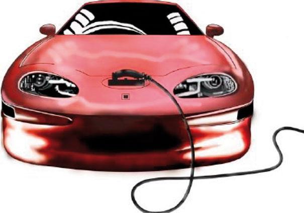 GM EV1 recarregando