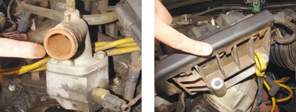 Falta de aditivo aliado a água de torneira ocasiona criação de ferrugem, destrutiva a qualquer motor, principalmente quando importado / Placa eletrônica de base das bobinas costuma apresentar curto-circuito