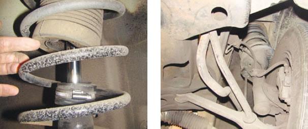Adaptações no batente interno da haste do amortecedor podem comprometer a segurança/ Peças próprias equipam a versão Australiana
