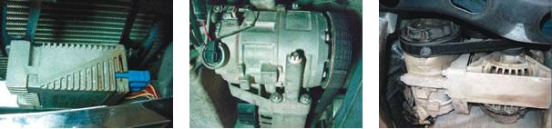 Módulo do eletroventilador/ Compressor sem embreagem eletromagnética