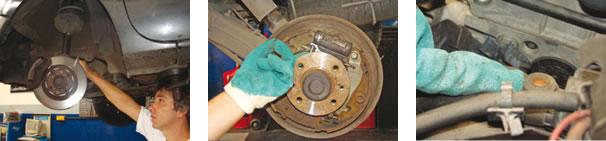 O disco de freio dianteiro apresentou medida (17,30mm) abaixo do mínimo (17,70mm) e precisou ser trocado/ Cilindro de roda traseiro esquerdo apresentou início de vazamento/ Tubulação do sistema de arrefecimento desprovido do pino de sangria