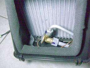 Válvula de expansão no evaporador