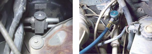 Válvula de expansão/ Engate da linha de baixa pressão