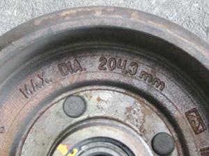 Tambor de freio traseiro