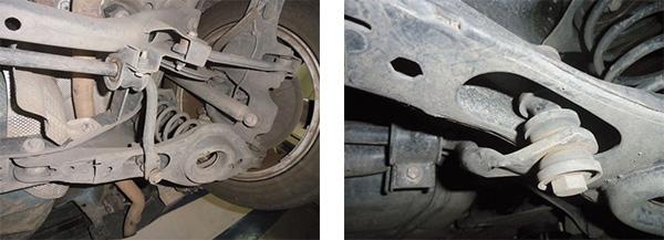 Suspensão traseira multilink com barra estabilizadora e bieletas / Bieleta da barra estabilizadora traseira