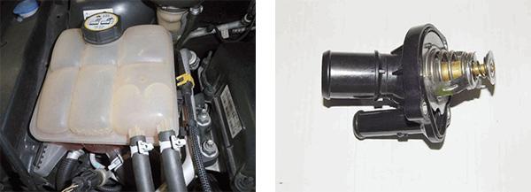 Vazo expansor do líquido de arrefecimento / Válvula termostática
