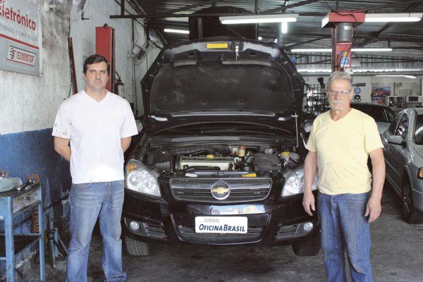 Alexandro Cedram, 41 anos, e Edson Cedram, 62, fundador da empresa