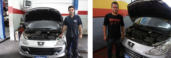 Régis, da Auto Elétrica e Mecânica JF / Luiz Fernando, da Tecnofrance