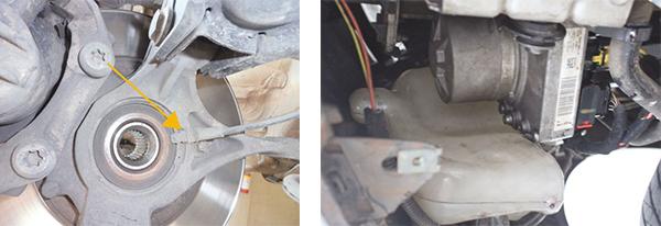 Sensor do freio ABS / Localização do módulo ABS