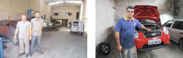 Erivaldo e Herbert, da EricarAutomecânica / Reinaldo Rodrigues da Silva