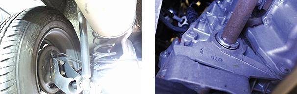Detalhe da suspensão traseira do Duster / Eliminação da coifa de retenção no câmbio: sem vazamentos