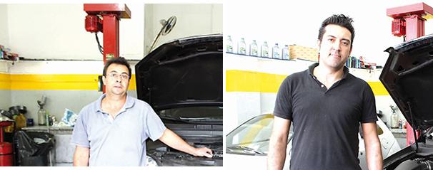 Henrique José Barbosa, 46, da Auto Elétrica Jozi / Michel Iaras, 33, destaca supostos estalos na embreagem