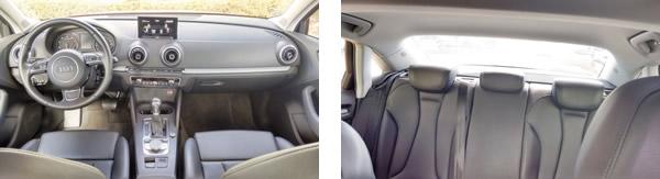 Painel sóbrio e elegante com todos controles à mão / Encosto de cabeça, cinto de 3 pontos e airbag de cabeça nos assentos traseiros