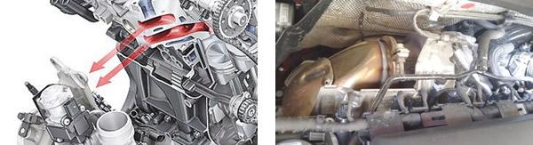 Coletor de escape integrado ao cabeçote / Turbocompressor compacto e gerenciamento eletrônico do wastegate
