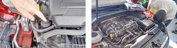 Filtro ecológico muito bem posicionado para manutenção / Fácil acesso aos itens de manutenção preventiva