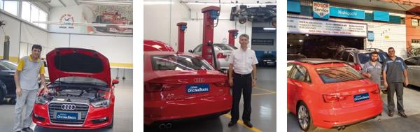 Mano, proprietário da Mecânica Mano / César, sócio e diretor técnico da Mecânica do Gato / Weslei e Jean, técnicos da Nishiguchi Car Service