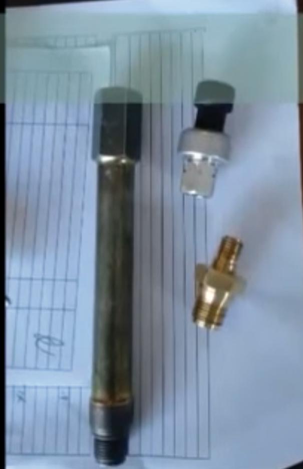 Transdutor de pressão feito com pressostato de ar-condicionado automotivo