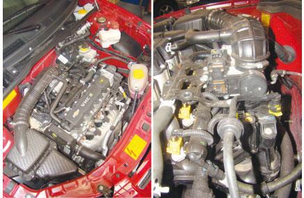 A estrela principal do novo Celta VHC E é o motor, que possui novo coletor de admissão, balanceiros roletados e novo acerto eletrônico