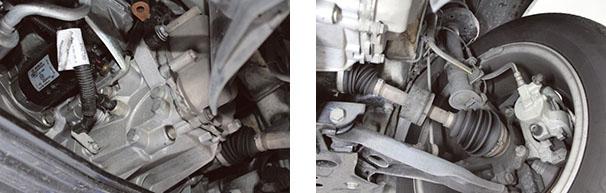 Transmissão C 510 do Linea Vista por baixo com sistema Dualógic / Sistema de suspenção dianteira e Sistema de freios equipados com ABS com sistema ESS sofreram algumas modificações em relação ao modelo anterior