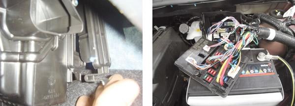 Filtro de cabine tem acesso tranquilo para troca / Localização e fixação da caixa de fusíveis permite bom manuseio