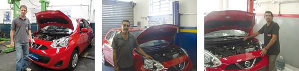 Gerson Oliveira da Gigios Bosch Service / Washington da Trust-X Car / Robson da Mecânica Madri