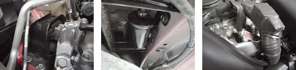 Coxim hidráulico superior do motor absorve bem as vibrações / Filtro de combustível bem protegido / Injetores com aquecimento dispensam o velho tanquinho da partida a frio