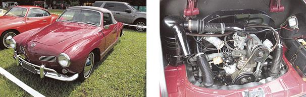 Karmann-Ghia conversível, apenas 177 unidades produzidas / O Karmann-Ghia usava a mesmo motor do Fusca 1500 cc e 44 cv