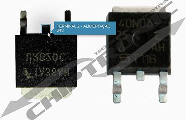 Teste de alimentação do transistor