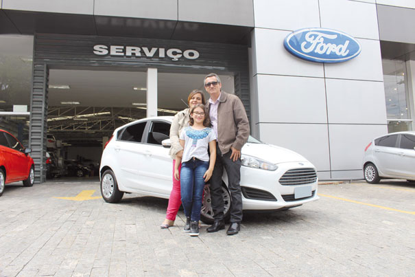 Claudio estava acompanhado da esposa, Adriana, e da filha Julia